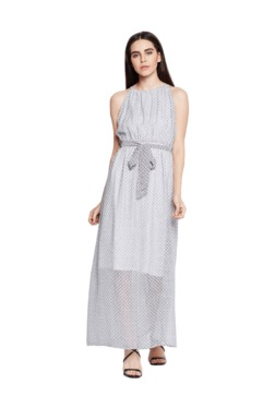 Oxolloxo Off White Printed Maxi Dress