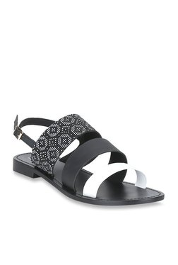 Mode By Red Tape Black & White Back Strap Sandals