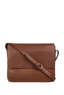 Hidesign Ee Salvodor 01 Brown Solid Leather Messenger Bag
