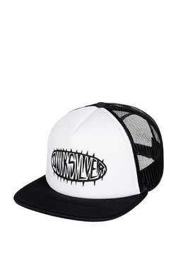 Quiksilver Stale White   Black Perforated Polyester Summer Cap 9dbac8b4b5b6