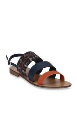 Mode By Red Tape Navy & Tan Back Strap Sandals