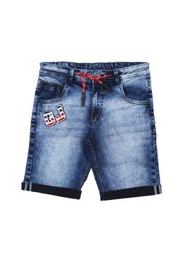 332d728ca37aee Gini   Jony Kids Blue Solid Bermuda