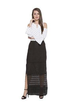 Globus Black Lace Maxi Skirt