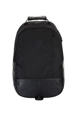 Puma Sf Ls Black Paneled Polyester Laptop Backpack