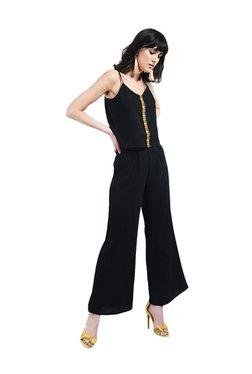 Bohobi Black Lace Maxi Pants & Cami Top Set