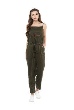Love Gen Olive Sleeveless Jumpsuit