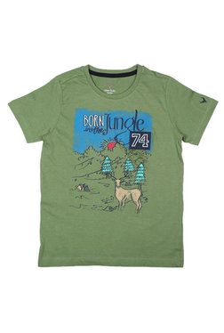 74dd71c8c0b Allen Solly Junior Green Printed T-Shirt