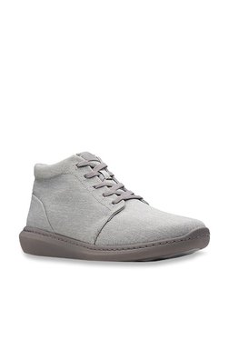 1d09b018b Clarks Step Urban Hi Grey Ankle High Sneakers