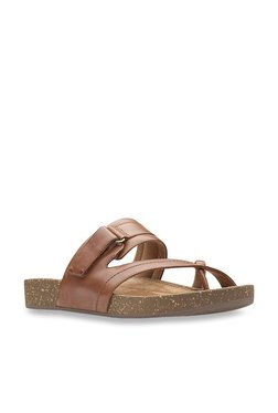 49d7275bbb2 Clarks Rosilla Tan Cross Strap Sandals