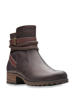 b30e96391 Clarks Marana Dark Brown Booties