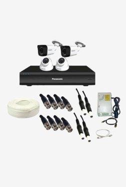 Panasonic SK-Panasonic1MP4CH2D2B 1 MP CCTV Camera with kit (White)