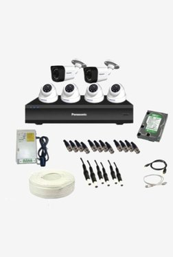 Panasonic SK-Panasonic2MP6CH4D2B1H 2 MP CCTV Camera with kit (White)
