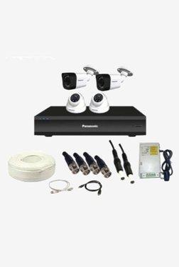 Panasonic SK-Panasonic2MP4CH2D2B 2 MP CCTV Camera with kit (White)