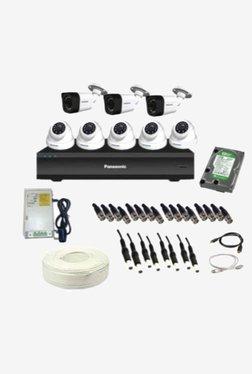 Panasonic SK-Panasonic2MP8CH5D3B1H 2 MP CCTV Camera with kit (White)