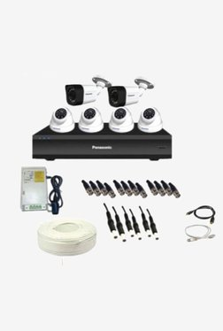 Panasonic SK-Panasonic2MP6CH4D2B 2 MP CCTV Camera with kit (White)