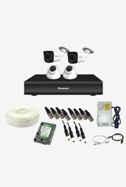 Panasonic SK-Panasonic2MP4CH2D2B1H 2 MP CCTV Camera With Kit (White)