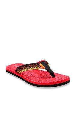107bbaebb Sparx Black   Red Flip Flops