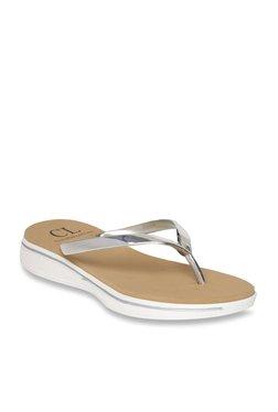 1d228c8b5158ba Carlton London Silver Thong Sandals