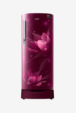 Samsung RR20N282YR8/NL 192 L Inverter 4 Star Direct Cool Single Door Refrigerator (Saffron Red)