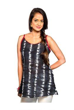 Indic Palate Co Black Printed Cotton Kurti