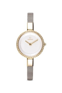 OBAKU V129LEGIMC Siv Glimt Gold-bi Analog Watch For Women