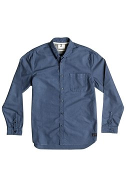 Quiksilver Blue Button Down Collar Cotton Shirt