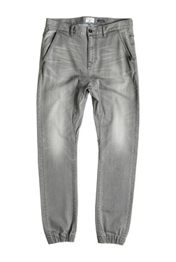 Quiksilver Grey Lightly Washed Mid Rise Jogger Jeans