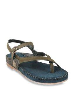 a00307900 Mochi Olive Cross Strap Sandals