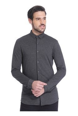 Jack & Jones Grey Slim Fit Cotton Shirt
