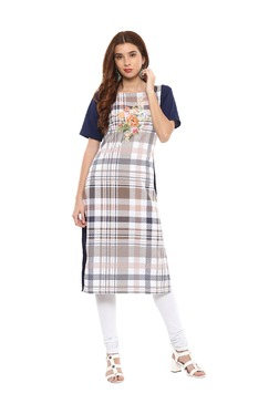 Trend Factory Multicolor Polyester Straight Kurta
