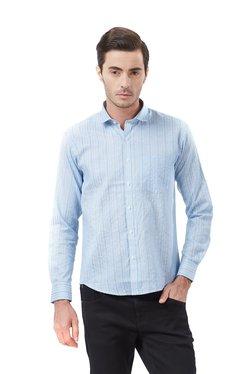 Deezeno Light Blue Striped Full Sleeves Shirt