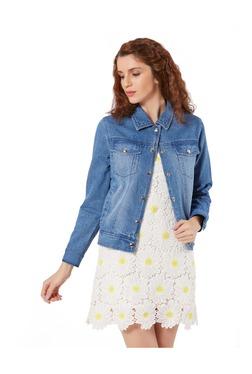 Merlot Denim Blue Full Sleeves Denim Jacket