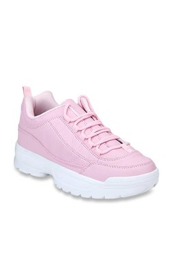 Truffle Collection Pink Casual Sneakers