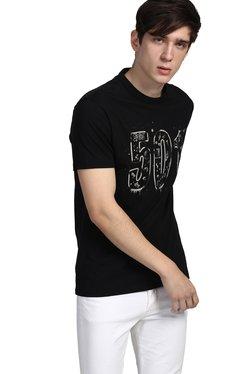 Levi's Black Crew Neck Slim Fit Cotton T-Shirt
