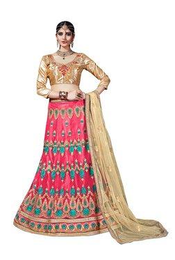 ffed3e976 New Arrival Designer Pink Net Partywear Kids Lehenga Choli (28 ...