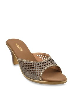 c40d9be12281 Mochi Antique Gold Ethnic Sandals