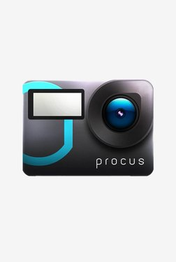 Procus Epic 12 MP 4K Ultra HD Dual Touchscreen With 50 Accessories Action Camera (Black/Blue)