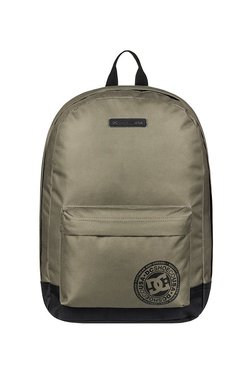 fa6be5f7e9a9 DC Backstack Military Green Solid Polyester Laptop Backpack