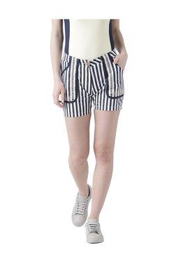 Jump USA Navy Striped Cotton Shorts