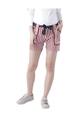 Jump USA Red Striped Cotton Shorts