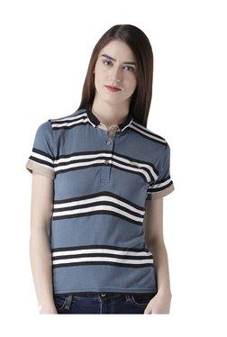 Jump USA Blue Striped Polo T-Shirt