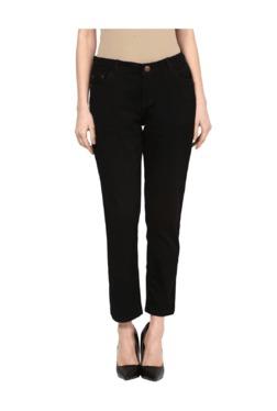 109 F Black Regular Fit Pants