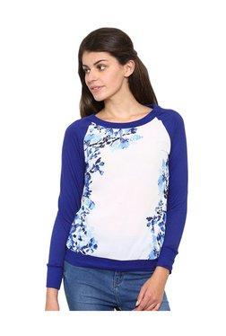Mystere Paris Blue & White Printed Cotton Top