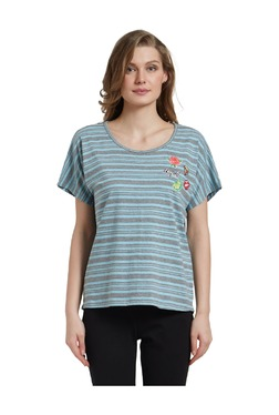 8e899af884 Mystere Paris Blue Striped Cotton T-Shirt