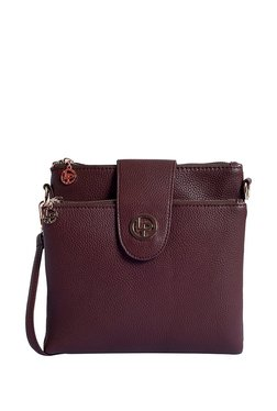 Lino Perros Brown Solid Sling Bag - Mp000000003569890