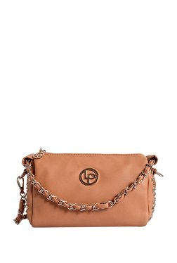 Lino Perros Tan Riveted Sling Bag