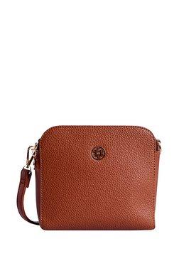Lino Perros Brown Solid Sling Bag