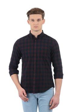 Indian Terrain Navy Cotton Button Down Collar Shirt