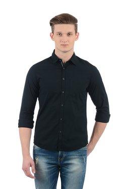 Indian Terrain Black Slim Fit Shirt