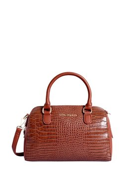 21c8d209dc04 Lino Perros Brown Textured Bowler Handbag